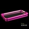 เคส HTC Desire 826 ขอบกันกระแทก Bumper (สีชมพูเข้ม / ขลิบทอง)