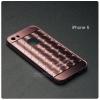 เคส iPhone 5 / 5s / SE l เคสฝาหลัง + Bumper (แบบเงา) ขอบกันกระแทก สีโรสโกลด์ (แบบเงา CHECKED PATTERN)