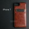 เคส iPhone 7 และ 8 เคส Bumper หุ้มหนัง พร้อมช่องใส่บัตร สีน้ำตาล