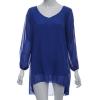 Ladies Fashion V Neck Split Long Sleeve Mini Womens Dresses Online