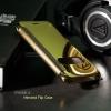 เคส iPhone 6/6s เคสฝาพับ ฝาหลังแบบเงา สีทอง