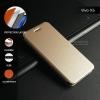 เคส Vivo X6 เคสฝาพับ + แผ่นเหล็กป้องกันตัวเครื่อง (บางพิเศษ) สีทอง
