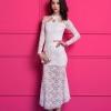 maxi dress เดรสยาว ผ้าลูกไม้ สีขาว แขนยาว ใส่ออกงาน งานแต่งงาน สวยมากๆ ค่ะ