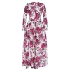 Cyber Graceful Floral Print Formal Party Long Maxi Dress(Multicolor)
