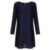 ZANZEA Vintage Women Plaid Check Long Sleeve Mini Dresses Navy - 3XL�Ã�¢�â�'�¬�â�€�œ Blue