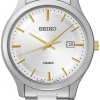 Seiko Men's SUR053 Two-Tone Stainless-Steel Quartz Watch with Silver Dial