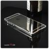 เคส Huawei P8Lite l เคสฝาหลัง + Bumper (แบบเงา) ขอบกันกระแทก สีเงิน