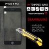 (มีกรอบ 3D แบบคลุมขอบ) กระจกนิรภัย-กันรอยแบบพิเศษ ขอบมน 2.5D (iPhone 6 Plus) ความทนทานระดับ 9H สีดำ
