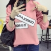 M fashion เสื้อยืดแฟชั่น แขนยาว สีชมพู รุ่น 028-6261 (free size)