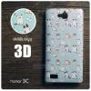 เคส Huawei Honor 3C เคสแข็งพิมพ์ลาย 3D แบบที่ 3