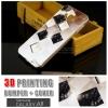 เคส Samsung Galaxy A8 Bumper + Cover พิมพ์นูน สามมิติ (แบบสไลด์) ลาย K