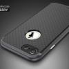 """เคส iPhone 7 (4.7"""") เคส iPaky Hybrid Bumper เคสนิ่มพร้อมขอบบั๊มเปอร์ สีดำขอบเทา"""