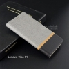 เคส Lenovo Vibe P1 เคสฝาพับหนัง PVC มีช่องใส่บัตร สีเทา