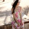 ชุดว่ายน้ำทูพีช พื้นขาว ลายดอกไม้ เซ็ตสามชิ้น เสื้อช้ันใน + กางเกง และ ชุดเดรสลายดอกไม้สีหวาน สม๊อคช่วงอก แบบน่ารักมากๆ