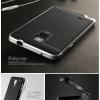 เคส Samsung Galaxy Note 4 เคส iPaky Hybrid Bumper เคสนิ่มพร้อมขอบบั๊มเปอร์ สีดำขอบเงิน