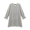 ZANZEA Puff Sleeve Casual Loose Short Knit Women Fashion Back BowAsia Dresses For Women Trendy Fashion Style Online
