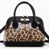 กระเป๋า Axixi กระเป๋าถือ/สะพาย สไตล์ญี่ปุ่น และสไตล์เกาหลี โทนสีดำเสือดาว โดดเด่นไม่เหมือนใคร