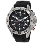 Nautica Men's N14536G NST Stainless Steel Watch with Black Resin Band