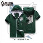 Preorder เสื้อฮู๊ดดี้ Attack on titan [green]