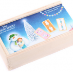 The Snow man and The Snow Dog Wooden Domino Set