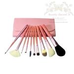 แปรงแต่งหน้า ชุดเซ็ท แปรงแต่งหน้า คุณภาพดี ขนอ่อนนุ่ม พิเศษ Cerro Qreen Professional Makeup Brushes Dream Set รุ่น CQ Pink 02 /10 Pcs. - Pink