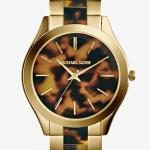 Michael Kors Slim Runway Tortoise-shell Dial Gold-tone MK4284