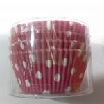 "Cup cake 4.5""( ลายจุดขาวพื้นชมพูเข้ม)100p"
