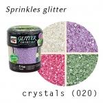 prinkles glitter crystals (020) คละสี ม่วง/ขาว/ชมพู/เขียว