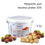 Marguerite pure hazelnut praline 50% 5kg