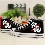 Preorder รองเท้า Gintama กินทามะ ส้นสูง สกรีนเรืองแสง