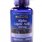 ALA - Puritan Alpha Lipoic Acid 300 mg 60 แคปซูล ส่งฟรี ลทบ.