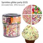 Sprinkles glitter party (025) คละสี ดาว/กลม/แท่งรี /กลมใส