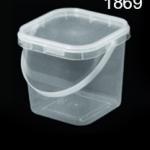 1869 ถังสี่เหลี่ยมหูหิ้วพร้อมฝา (1*10)
