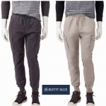 Rustic Blue Canvas Cargo Jogger Pants