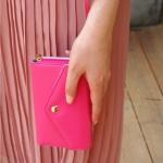 กระเป๋าสตางค์แฟชั่น สไตล์เกาหลี สีชมพูเข้ม ใบยาว(รุ่นใหม่) แต่งมงกุฎ งานสวยน่ารัก น่าใช้มากๆค่ะ
