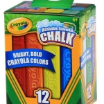 Crayola Washable Sidewalk Chalk Stick 12 colors