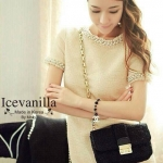 New arrival original import Premium Fabric & Quality Liza pearl jewels stitch Luxury Dress