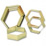 Matfer hexagon ring mousse 18x4.5 cm 372203