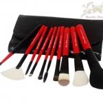 แปรงแต่งหน้า ชุด เซ็ท แปรงแต่งหน้า คุณภาพดี ขนอ่อนนุ่ม Cerro Qreen (Limited Edition) - Red