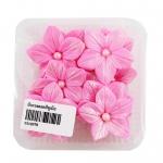 น้ำตาลรูปดอกพิทูเนีย สีชมพู (น้ำตาลตกแต่งหน้าเค้ก)