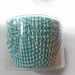"Cup cake 4.5"" (ลายสก๊อตฟ้า)100p"