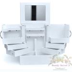 ตู้เก็บเครื่องสำอาง ชั้นเก็บเครื่องสำอาง แบบพิเศษ Cabinet cosmetic wood storageง- white color