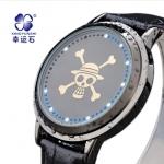 นาฬิกา Led สัมผัส 2014 New World ลู่ฟี่ One Piece อะนิเมะนาฬิกากันน้ำ