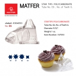 Matfer E6 Polycarbonate Fluted Nozzle (6 teeth, Ø 13mm) 167053