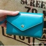 กระเป๋าสตางค์แฟชั่น สไตล์เกาหลี สีฟ้าเข้ม ใบยาว(รุ่นใหม่) แต่งมงกุฎ งานสวยน่ารัก น่าใช้มากๆค่ะ