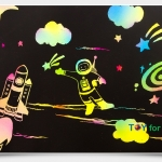 Scratch Cards- Dream Space ชุดศิลปะขูดพร้อม stencil