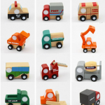 Mini truck set (12 pieces) ชุดรถไม้จิ๋ว