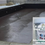 K-100 Water Based Polyurethane Butimen Liquid Membrane วัสดุกันซึมโพลียูรีเทน บิทูเมน สูตรน้ำ วัสดุที่สามารถป้องกันการรั่วซึมของน้ำและไอน้ำได้เป็นอย่างดี เหมาะสำหรับเป็นวัสดุกันซึมสำหรับงานโครงสร้างที่ไร้รอยต่อ
