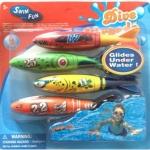 ทุ่นตอปิโด เล่นใต้น้ำ ทุ่นฝึกดำน้ำ ว่ายน้ำ แพ็ค 4 อัน