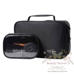 CerroQreen Double Professional Makeup Box 2 in 1 กระเป่าใส่เครื่องสำอางค์ - สีดำ